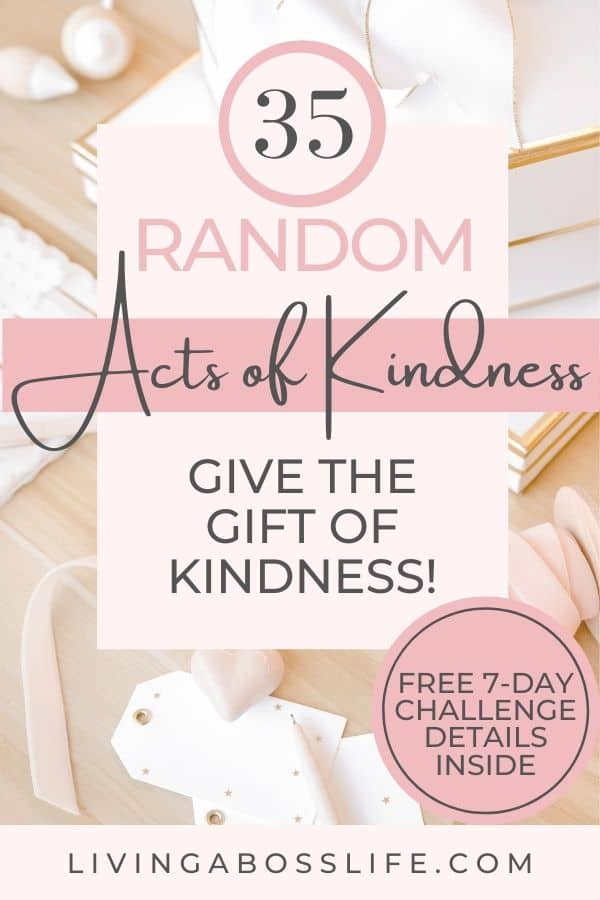 One act of kindness can go a long way. My birthday challenge this year was 35 random acts of kindness which marks one act for each of my years of life. Join the random acts of kindness challenge to spark your inner happiness and help create a wave of love! Find details about our 7-day acts of kindness challenge inside!