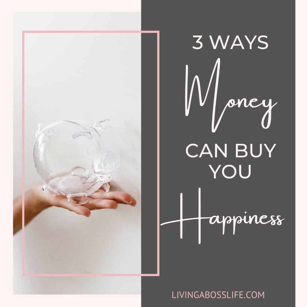 3 ways money CAN buy you happiness! Let's fix your money mindset by eliminating this long time limiting belief. Grab our free money mindset workbook with my favourite strategies inside!