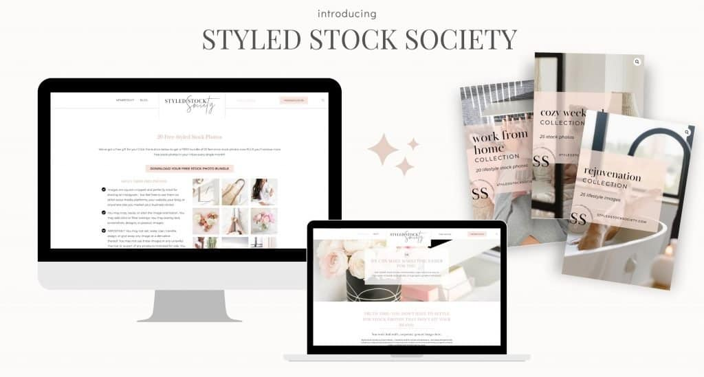 If you are en entrepreneur looking for professional feminine stock photos and templates Styled Stock Society has you covered. Sign up for their free stock photos to see for yourself! This must-have membership is on every entrepreneur's wish list!