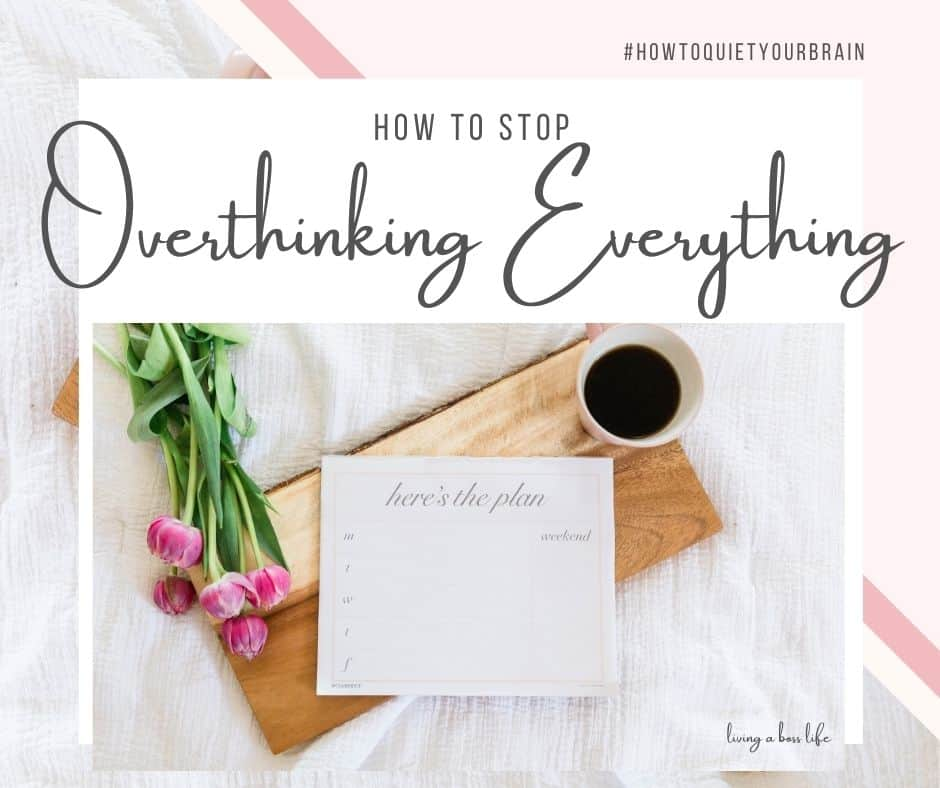 Learn how to stop overthinking and calm your mind. An important part of self-care is having the ability to disconnect and break free from the thoughts flooding our minds. Overthinking can affect our sleep, our productivity and our success.#Stress #Anxiety #Overthinking #Mindset #QuietYourMind #FindingPeace #SelfCare #Relaxation #StressRelief