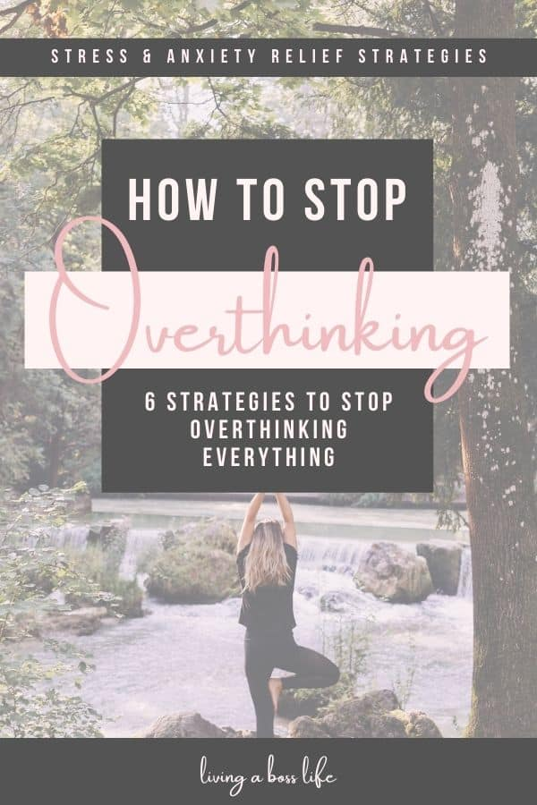 How to stop overthinking everything when your brain just won't stop going. Overthinking is one of the most common issues adults deal with and learning what is causing it can make all the difference in the world for your productivity and success. #Stress #Anxiety #Overthinking #Mindset #QuietYourMind #FindingPeace #SelfCare #Relaxation #StressRelief