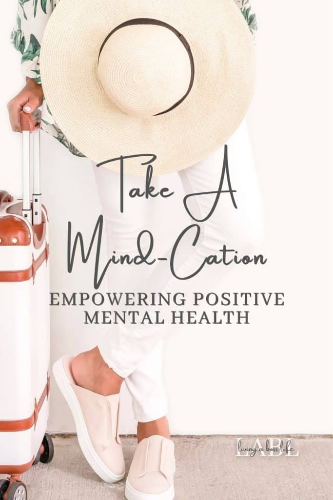 Are you needing a mental health reset? Pack your bags and join me on a Mind-cation! In as little as 5 minutes you can reset your positive mindset and find a more positive mental health space to get back to the things you love with the people you love. #MentalHealth #Positivity #MindCation #PersonalDevelopment #MindsetReset #ThinkingPositively #Grounding #Mediation #Manifestation #MentalHealthBreak #Relaxation #StressRelief #Anxiety #Mindfulness #Clarity #Journaling #Visualization #VisionBoard