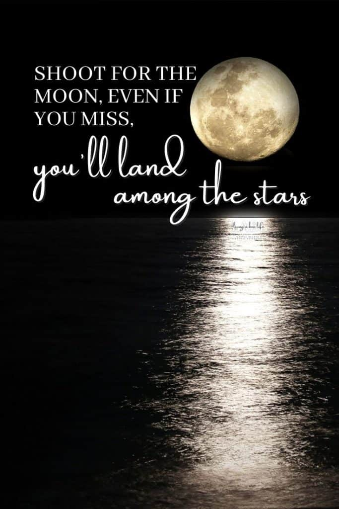 Shoot for the moon even if you miss, you'll land among the stars - author Oscar Wilde This has always been my favourite motivational quote for as long as I can remember therefore it is number one of our top 20 motivational quotes!#MotivationalQuotes #Success #Goals #DefineYourSuccess #MotivationalQuotesForWomen #MotivationalQuotesForWork #MotivationalQuotesToWorkout #LifeQuotes #PositiveQuotes #QuotesOnHappiness #QuotesOnStrength #QuotesOnEncouragement #QuotesOnSuccess #QuotesHardWork #QuotesToInspire #QuotesToMotivate #Achieve #Confidence #Motivate