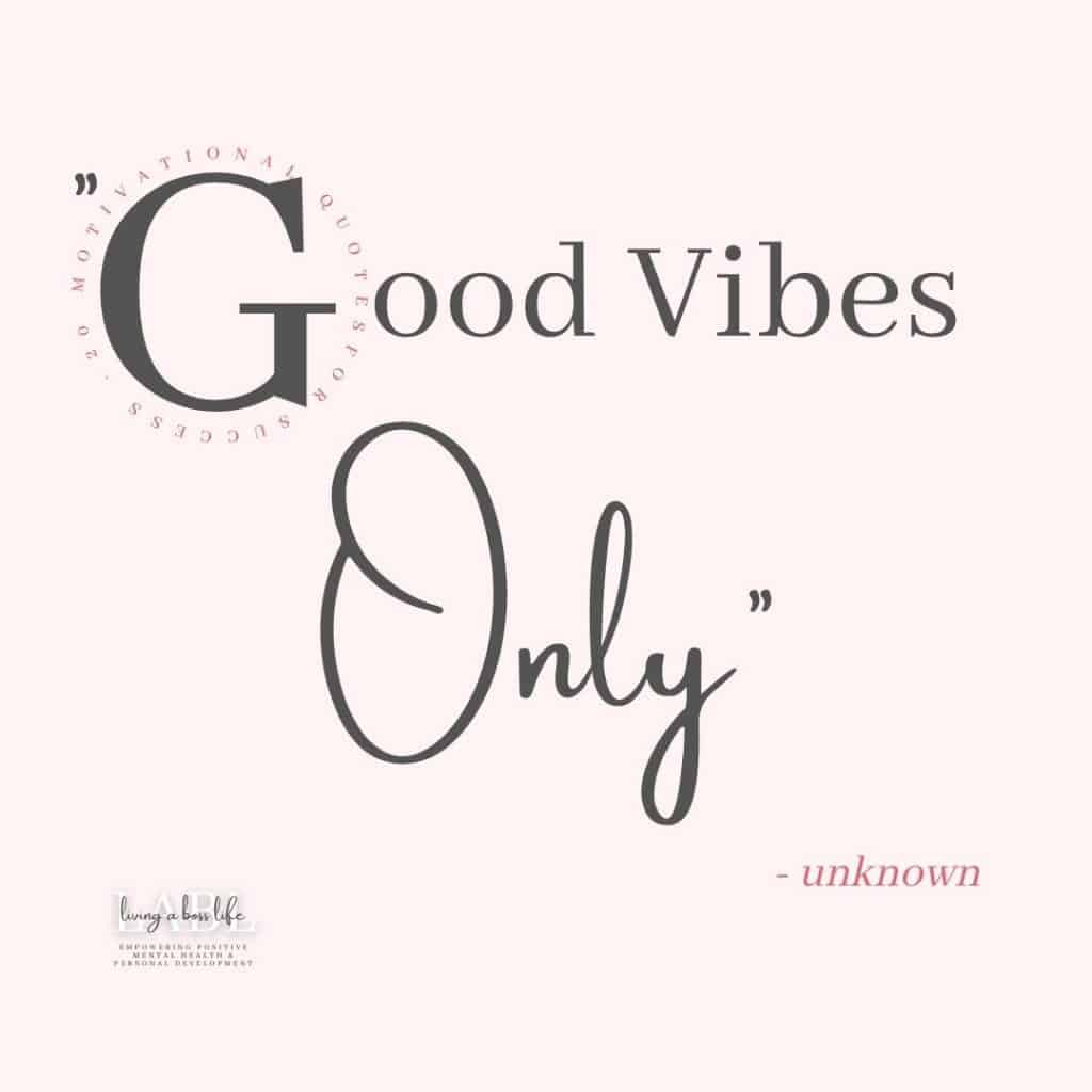 Stay positive and do not allow negativity to weigh you down. Good vibes only! Motivational Quotes To Inspire Positivity #20QuotesFor2020#MotivationalQuotes #Success #Goals #DefineYourSuccess #MotivationalQuotesForWomen #MotivationalQuotesForWork #MotivationalQuotesToWorkout #LifeQuotes #PositiveQuotes #QuotesOnHappiness #QuotesOnStrength #QuotesOnEncouragement #QuotesOnSuccess #QuotesHardWork #QuotesToInspire #QuotesToMotivate #Achieve #Confidence #Motivate
