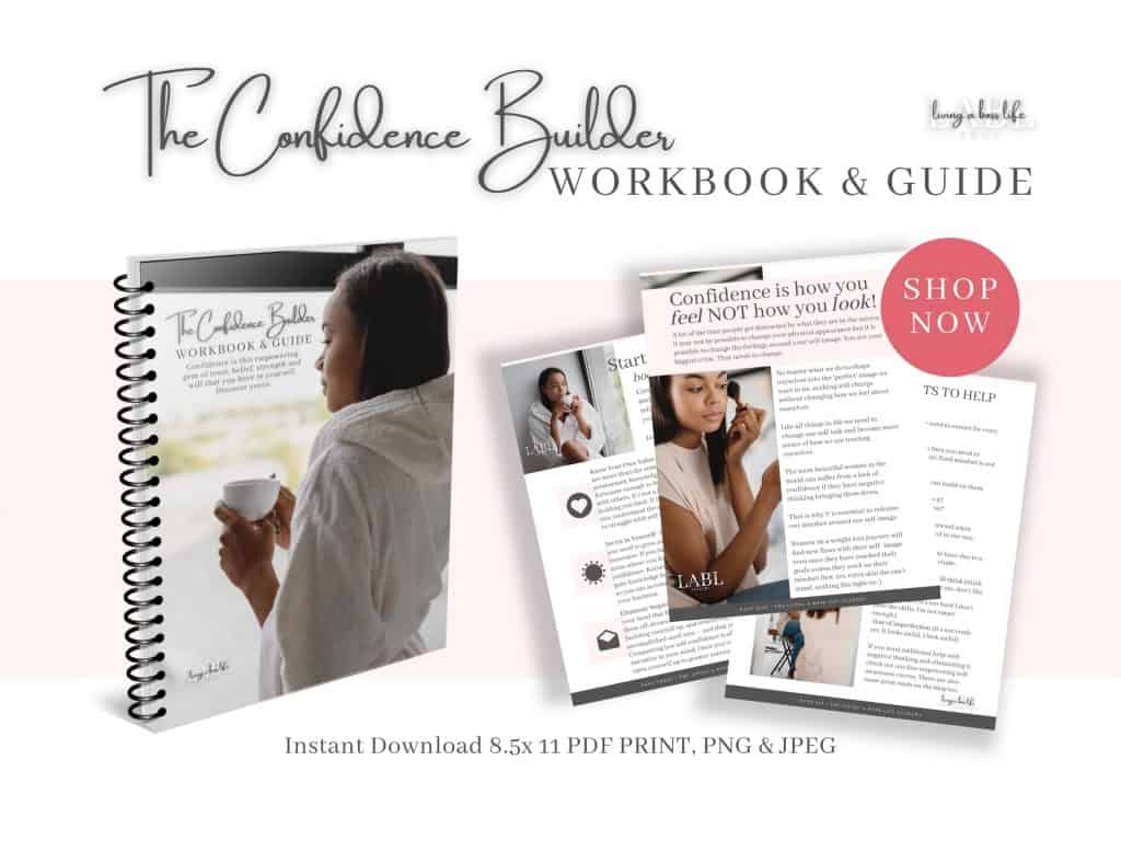 The Confidence Builder Workbook & Guide is a self-help book to help you start taking action towards your success.4 out of 5 women struggle with a lack of confidence and low self-esteem. I was one of those women and now I help others get their lives back! Ready to say no more to your limiting beliefs? Then let's get started on building your confidence! Confidence is an essential core element of achieving success! Without it, we can not find clarity and we can not discover our passion within ourselves. Find it on Etsy