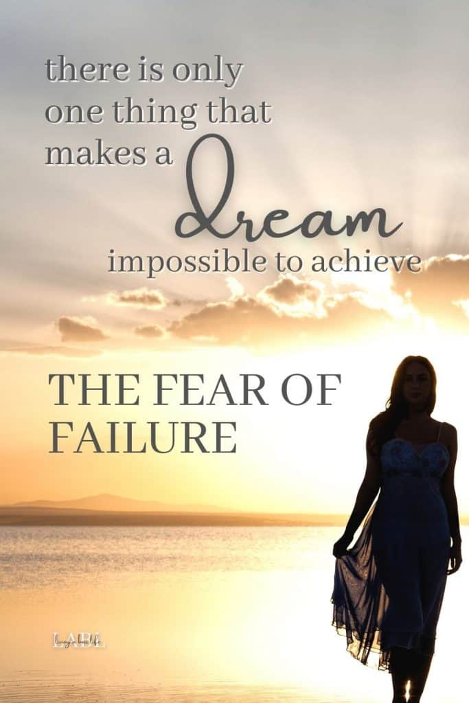 There is only one thing that makes a dream impossible... The fear of failure! Learn ho to channel your inner child and eliminate limiting beliefs. #Quote #QuotesForSuccess #FearOfFailureQuote #LimitingBeliefsQuote #DreamQuote #GoalsQuotes #MotivationalQuotes