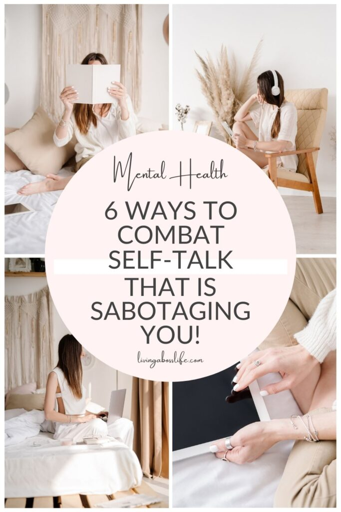 Excuse me! What did you just say?!? 6 ways to combat negative self-talk that is sabotaging your success! What is your inner critic saying to you? Are you affecting your own confidence, self-esteem and success more than you know? Use these 6 tips to change your self-talk into a more empowering one. #SelfTalk #SelfConfidence #LimitingBeliefs #Confidence #SelfDoubt #Relationships #InnerCritic #SelfEsteem #PersonalDevelopment #MentalHealth