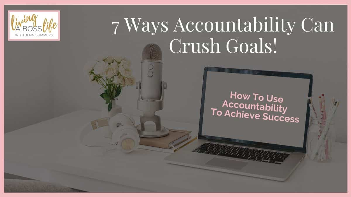 Most people think of accountability as just another responsibility we have to take on as adults. What if I told you accountability can change your life forever!
