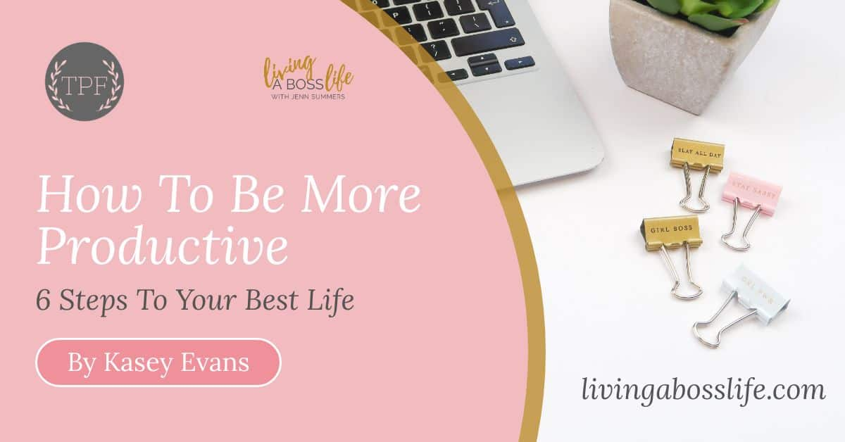 That Productive Feeling, a blog by Kasey Evans, is filled with great tips and tricks to managing time and learning the keys to productivity. Check out her 6 tips to productivity over on livingabosslife.com