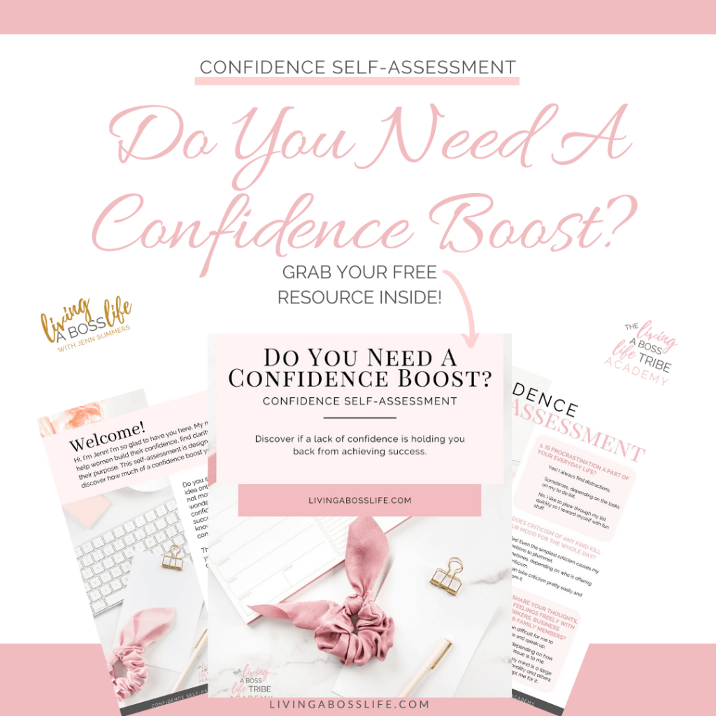 Do you need a confidence boost? Our confidence self-assessment workbook! Discover if a lack of confidence is holding you back from achieving your success!