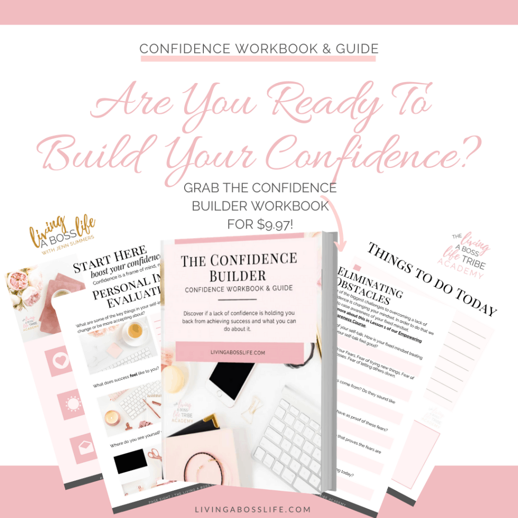Are you ready to build your confidence? this graphic is an example of promotional cont available as a done for you service