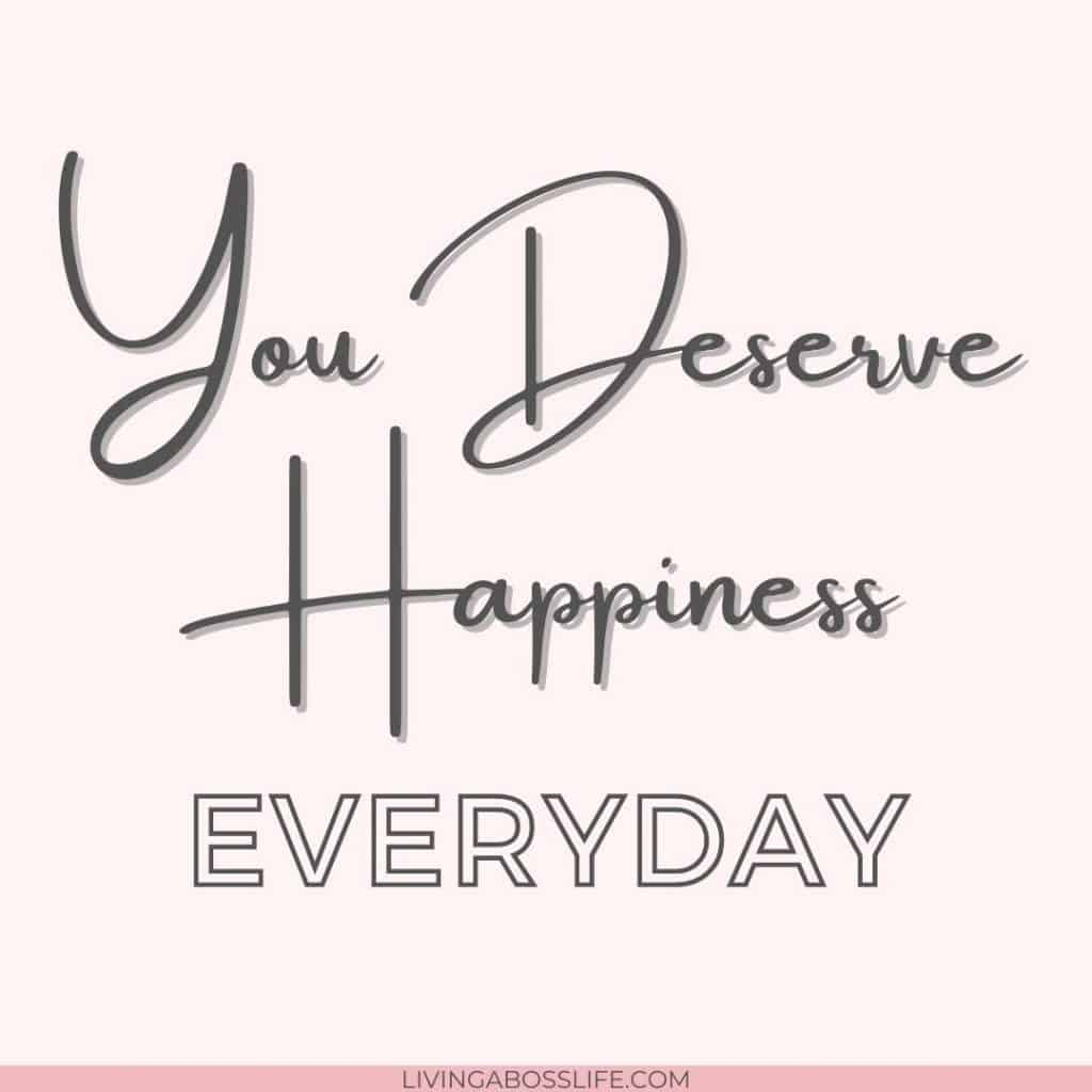You deserve happiness everyday. If you are not giving yourself one happy moment a day you are not taking care of yourself. See these 5 tools to help you be the best you can be. For yourself! #SelfCare #PositiveAttitude #PositiveThinking #NegativeThinking #GrowthMindset #Positivity #GratitudeJournal #Grounding #Happiness #Joy #Inspiration #BeatingAnxiety #Depression