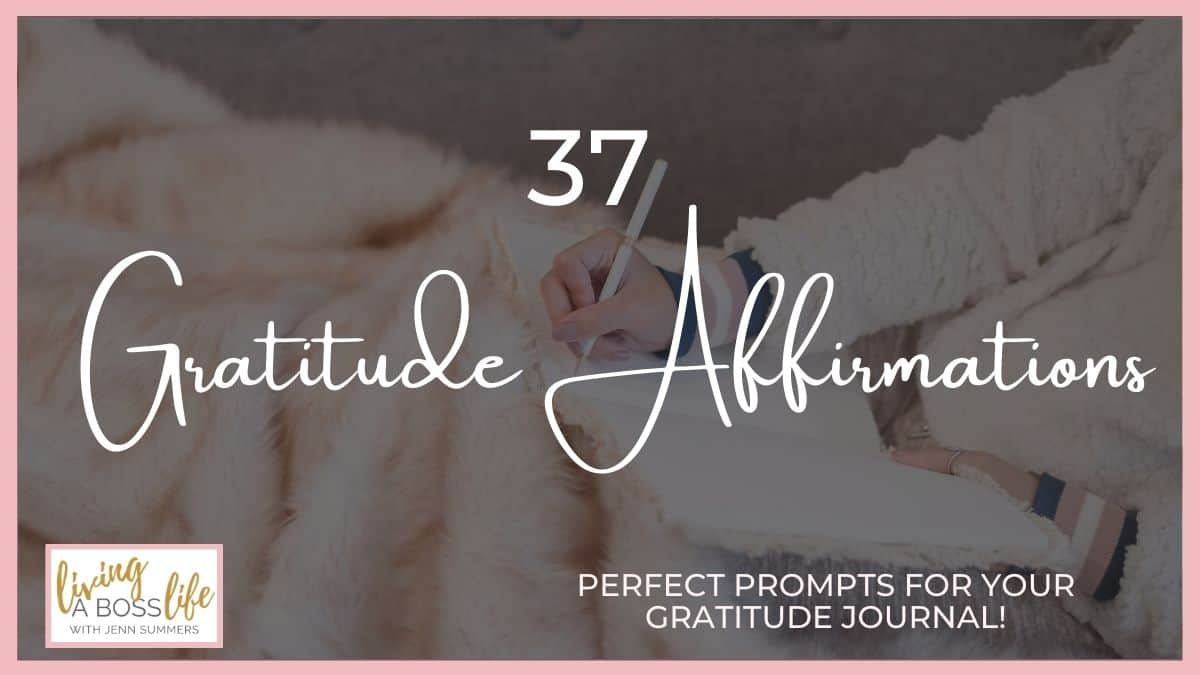 37 Gratitude Affirmations To Start Your Days With Joy. Bring joy and happiness into your day with these beautiful empowering affirmations. These make perfect prompts for your gratitude journal too! #JournalPrompt #Gratitude #Happiness #Affirmations #DailyAffirmations #GratitudeJournal #PersonalDevelopment #Mindset #SelfCare