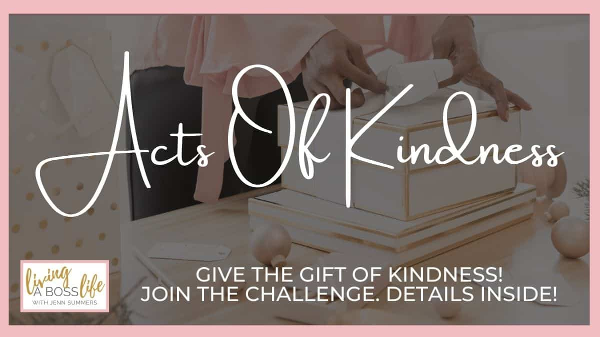 Random Acts of Kindness help bring happiness into the world. They take but a moment to complete yet can make a huge impact. Learn what acts of kindness can do for your emotional mind and the wellbeing of others. Join our 7-Day challenge. Details inside! #ActsOfKindness #ActsOfKindnessBirthdayChallenge #WaveOfLove #Happiness #SelfCare