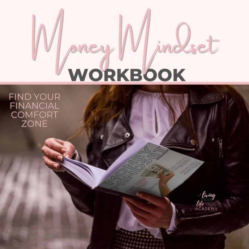 Grab our FREE Money Mindset Workbook. This mini workbook includes my favourite strategies and tools that help open your eyes and see that big financial goals are doable! I hope you enjoy our mini workbook and find your financial comfort zone! #FinancialClarity #MoneyMindset #MoneyCanBuyYouConfidence