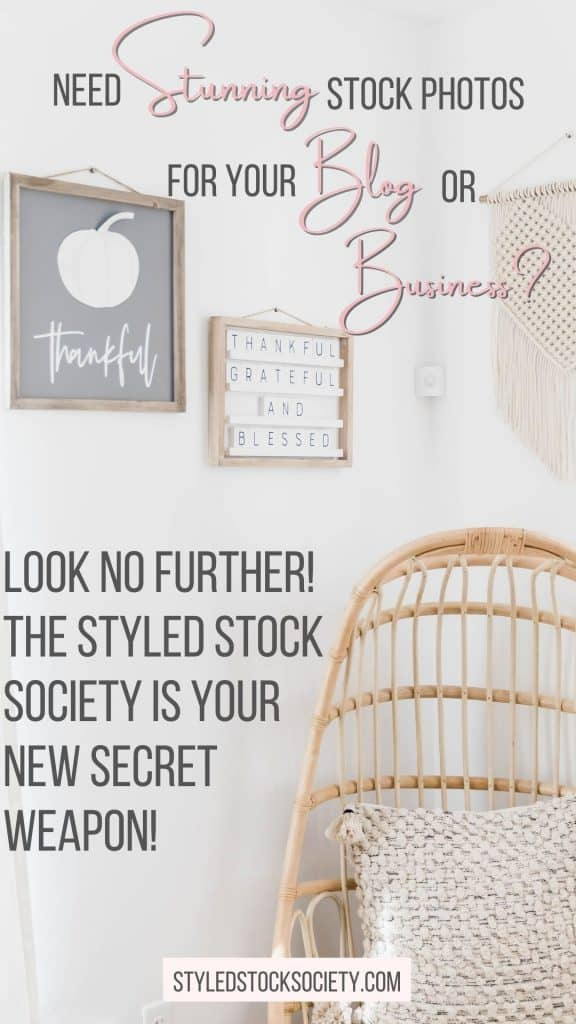 Do you need stunning stock photos for your blog or business? Look no further #StyledStockSociety is you new secret weapon! Join today! #Affiliate