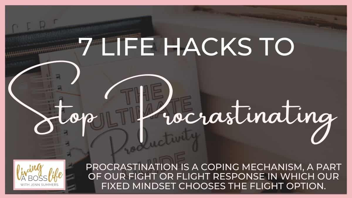 These 7 life hacks to stop procrastinating can help you find the perfect method that works for you and every type of procrastination that is holding you back in different areas of your life. Get our free ultimate productivity workbook inside!
