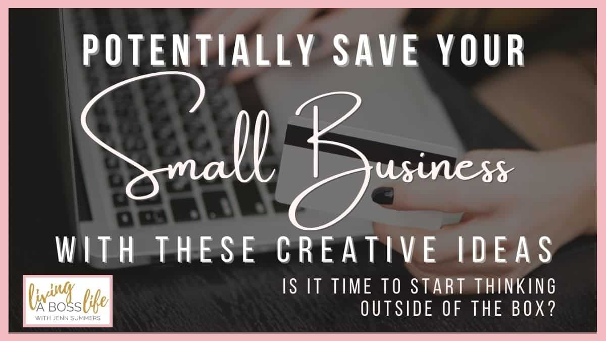 Tips To Potentially Save Your Small Business During A  pandemic. It may be time for your small business to shift gears and start thinking outside of the box. These ideas can help you get your creative juices flowing to help you stay afloat during this hard time. #Pivot #SmallBusiness #ThinkingOutsideOfTheBox #Lockdown #Entrepreneurs #BusinessIdeas