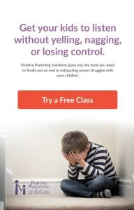 Get your kids to listen without yelling, nagging or losing control. Free positive parenting class! #AffiliateLink