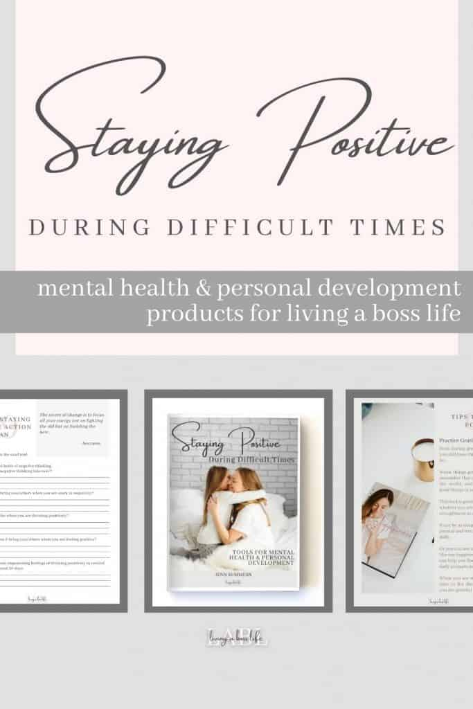 Introducing the Staying Positive During Hard Times mini course! This quick course gives you tips to start using right now when you feel overwhelmed with stress and like you are losing control. Reducing stress can be difficult and time consuming therefore this short video and report can help you get rolling immediately.