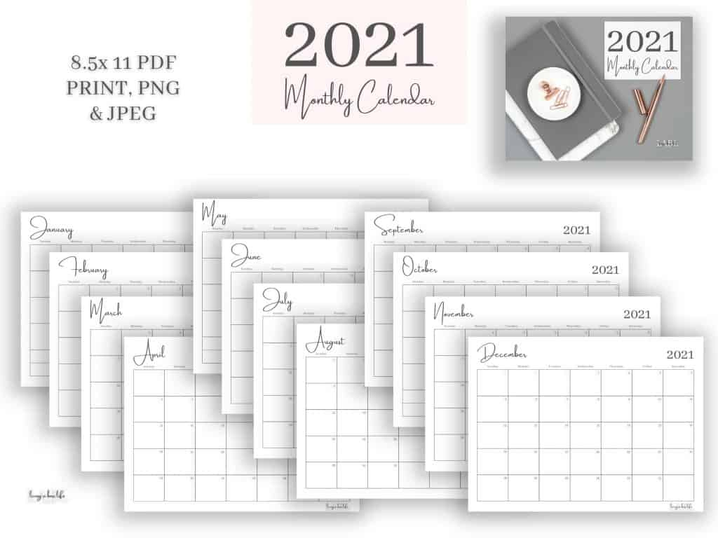 Have you been looking for a dated 2021 calendar that is sleek, chic and ready to go? Look no further!Staying on task doesn't have to be blah!