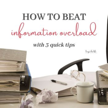 How to beat information overload with 3 quick tips. The world is full of information and it is available at your fingertips. It can be a great thing but it can also be devastating to your health and wellbeing. Learn how to allow yourself some inner peace and calm your mind.
