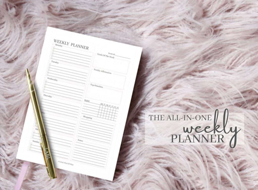 Introducing The All-In-One Weekly Planner Printable Sheet! This professional, feminine weekly planner is perfect for every week of the year.Start living a boss life with the all-in-one weekly planner printable sheet!Keep track and stay organized with:-daily tasks-goals of the week-top priorities-a weekly affirmation-habits-shopping list-and important notesStaying organized doesn't have to be complicated!If you are looking for a simple beautiful planner this is the perfect instant download for all your weekly needs.#EtsyShop #PersonalDevelopmentProducts #PositiveMentalHealth #Planners #Printable #DailyPlanner #PrintableDailyPlanner #Calendars #Journals Ebooks #LivingABossLifeShop
