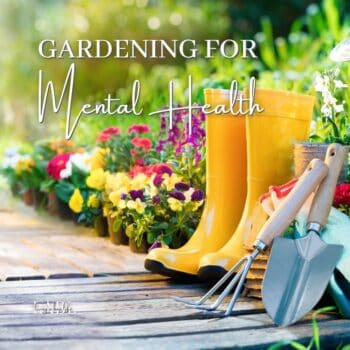 Gardening for mental health has some major benefits think you should know about! from building a community to expressing your own personal taste there are a large array of benefits that can be found in your own backyard! It's time to get dirty and improve your mental health, read more now! #MentalHealth #Gardening #BackYardGarden #BenefitsOfGardening #Depression #Anxiety #Stress #HowToUnwind #FindingPeace